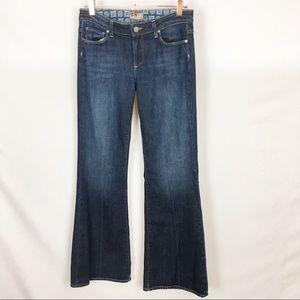 PAIGE | Robertson Dark Wash Flare Jeans Denim